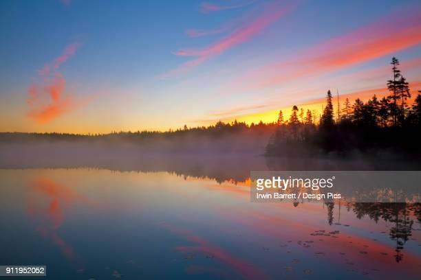 jacks lake at sunrise - bedford nova scotia stock pictures, royalty-free photos & images