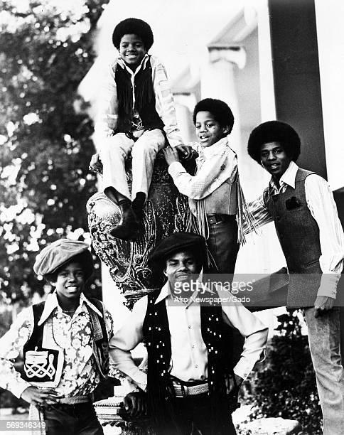 Jackson 5 1975 Jackie Jackson Jermaine Jackson Marlon Jackson Michael Jackson and Tito Jackson