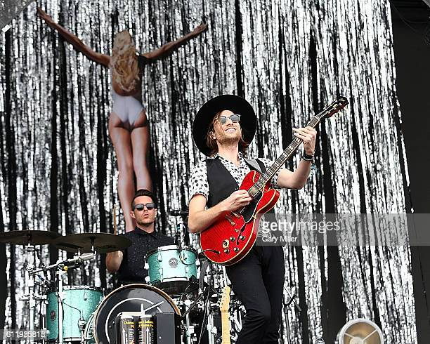 Jackson and Greg Erwin of Saint Motel perform in concert during the Austin City Limits Music Festival at Zilker Park on October 01, 2016 in Austin,...