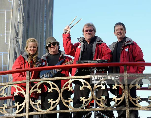 Jackson Berkey Chip Davis and Arnie Roth of Mannheim Steamroller attendsthe 86th Annual Macy's Thanksgiving Day Parade on November 22 2012 in New...