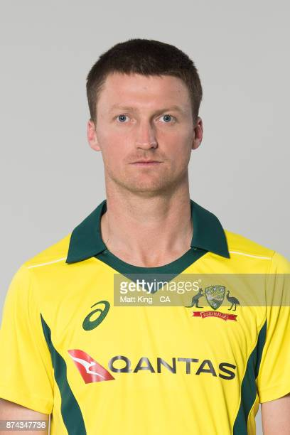 Jackson Bird poses during the Australia One Day International Team Headshots Session at Intercontinental Double Bay on October 15 2017 in Sydney...
