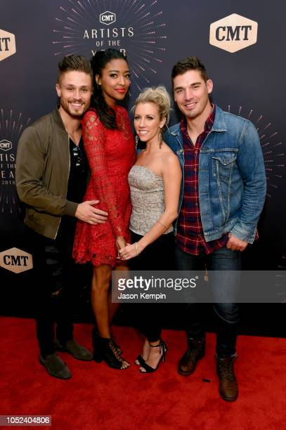 Jackson Boyd Alisa Fuller Jessica Mack and Kerry Degman of TV show 'Music City' attend the 2018 CMT Artists of The Year at Schermerhorn Symphony...