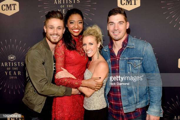 Jackson Boyd Alisa Fuller Jessica Mack and Kerry Degman of TV show Music City attend the 2018 CMT Artists of The Year at Schermerhorn Symphony Center...