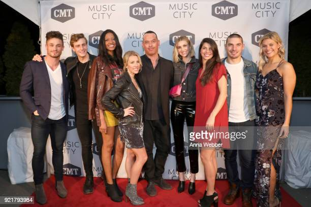 Jackson Boyd Bryant Lowry Alisa Fuller Jessica Mack producer Adam DiVello Whitney Port Rachyl Degman Kerry Degman and Sarah Thomas attend CMT's...