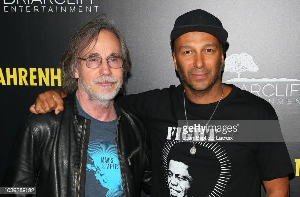 Jackson Browne and Tom Morello attend the premiere of Briarcliff Entertainment's Fahrenheit 11/9 on September 19 2018 in Los Angeles California