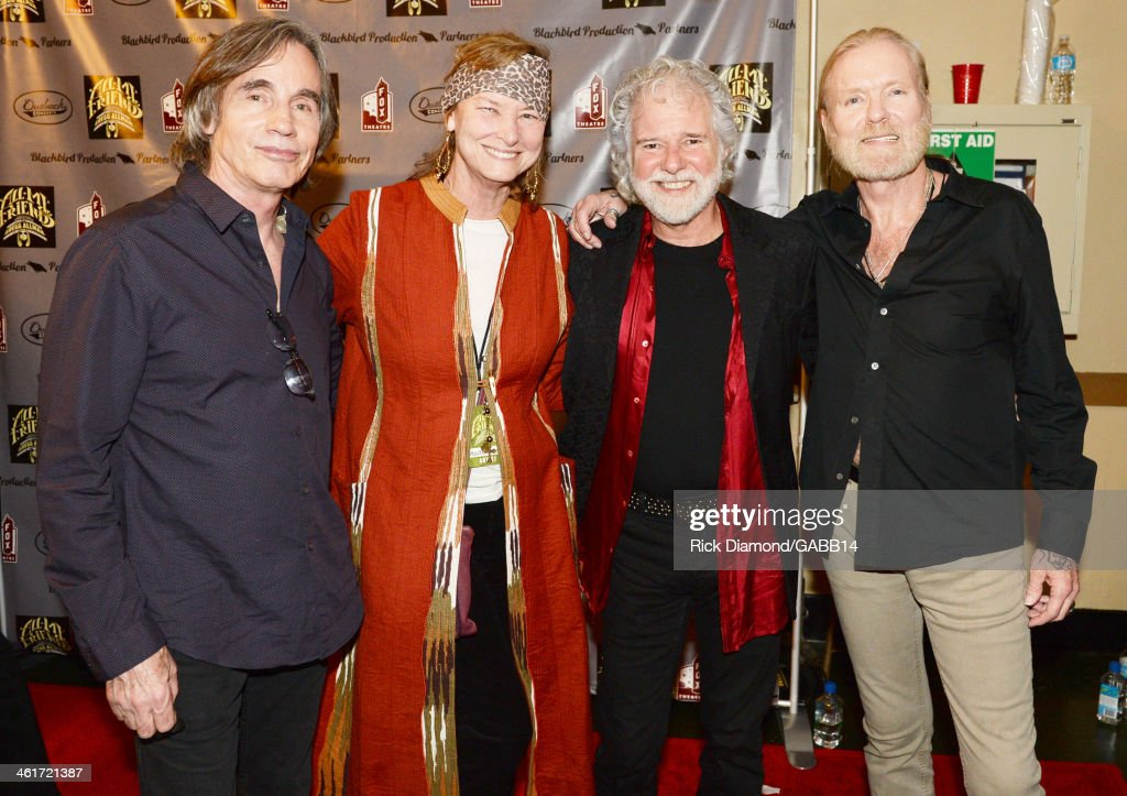 Jackson Browne, Chuck Leavell, Rose Lane, and Gregg Allman attend All My Friends: Celebrating the Songs & Voice of Gregg Allman at The Fox Theatre on January 10, 2014 in Atlanta, Georgia.