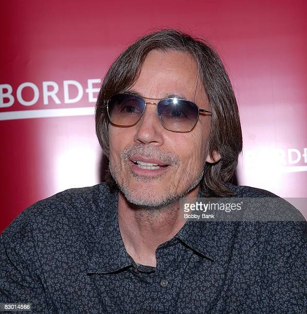 Jackson Browne during the album release and signing of his new album Time the Conqueror his first album in six years at Borders Columbus Circle on...