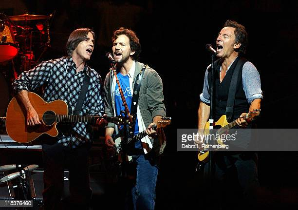 Jackson Browne Eddie Vedder and Bruce Springsteen