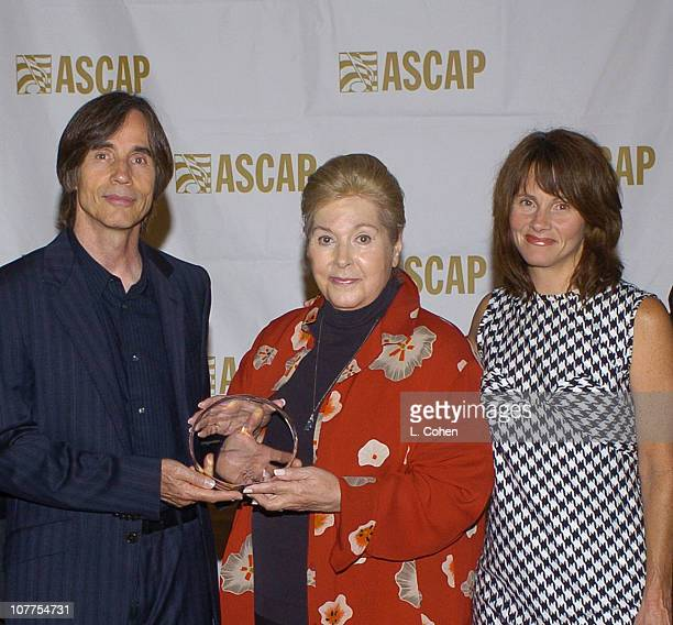 Jackson Browne honored with the Founders Award Marilyn Bergman president/chairman of ASCAP and Shawn Colvin