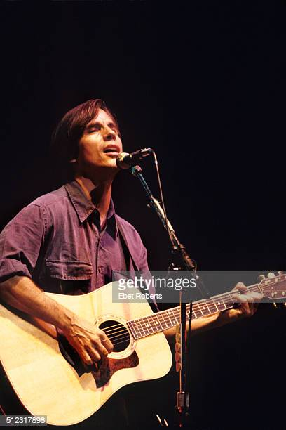 Jackson Browne performing at a 'Ban The Dam' concert at the Beacon Theater in New York City on October 7 1991