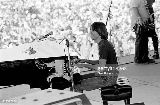Jackson Browne performing at the No Nukes Muse Rally in Battery Park City in New York City on September 23 1979