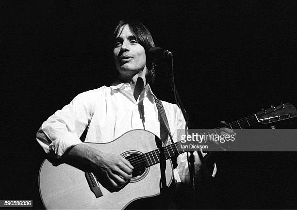 Jackson Browne performing on stage at Apollo Theatre Manchester UK 12 April 1976