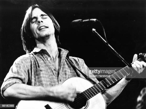Jackson Browne performs live on stage in Amsterdam Holland in 1974