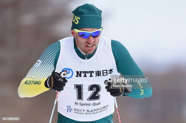 Jackson Bursill of Australia competes in Men's Cross Country 14 km Individual Sprint Classical on day three of the 2017 Sapporo Asian Winter Games at...