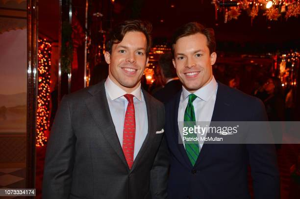 Jackson Conway and Christian Conway attend George Farias Anne Jay McInerney Host A Holiday Party at The Doubles Club on December 13 2018 in New York...