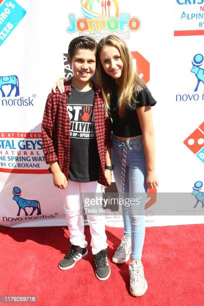 Jackson Dollinger and Ava Kolker attend the 4th Annual Say NO Bullying Festival at Griffith Park on October 05 2019 in Los Angeles California
