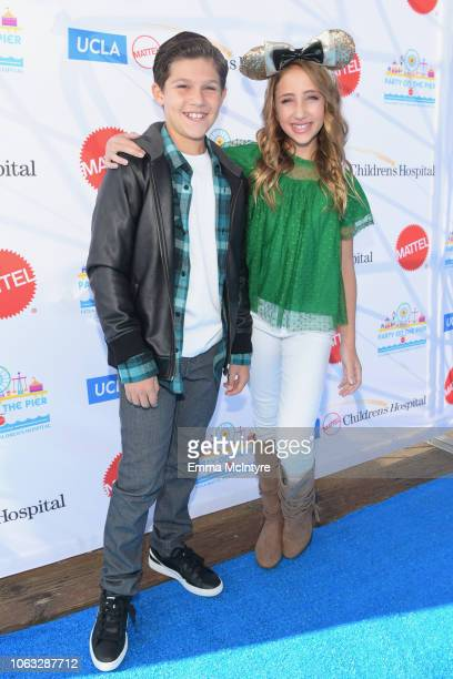 Jackson Dollinger and Ava Kolker attend the UCLA Mattel Children's Hospital's 19th Annual Party on the Pier at Santa Monica Pier on November 18 2018...