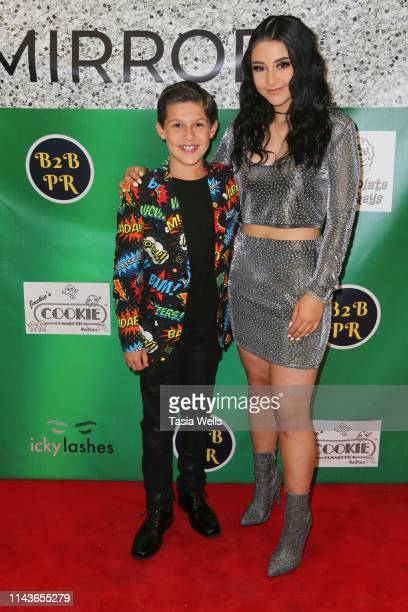 Jackson Dollinger and Issie Swickle attend Issie Swickle Celebrates the Release of Her New Single Mirror at The Industry Loft Space on April 18 2019...