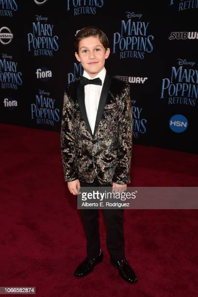 Jackson Dollinger attends Disney's 'Mary Poppins Returns' World Premiere at the Dolby Theatre on November 29 2018 in Hollywood California