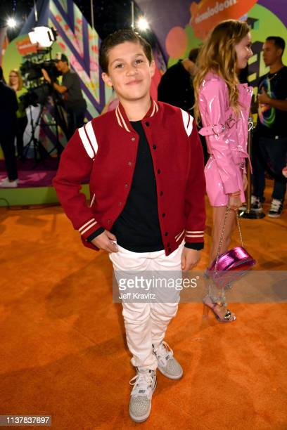 Jackson Dollinger attends Nickelodeon's 2019 Kids' Choice Awards at Galen Center on March 23 2019 in Los Angeles California