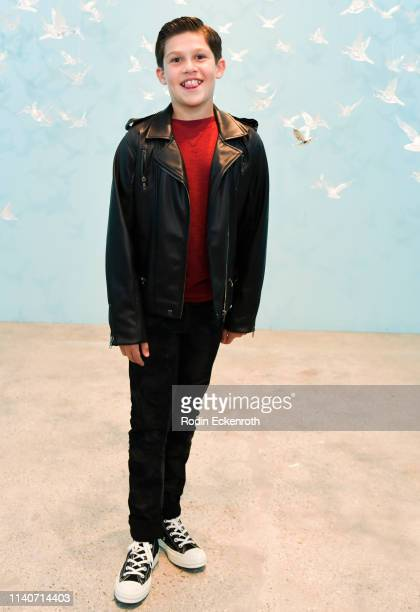 Jackson Dollinger poses for portrait at WonderWorld Hollywood and Experience PopUp Opening Night Party on April 05 2019 in Hollywood California