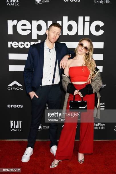 Jackson Foote and Emma Lov Block of Loote attend Republic Records Grammy after party at Spring Place Beverly Hills on February 10 2019 in Beverly...