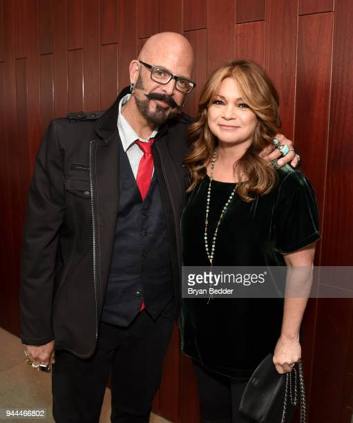 Jackson Galaxy and Valerie Bertinelli attend the Discovery Upfront 2018 at the Alice Tully Hall at Lincoln Center on April 10 2018 in New York City