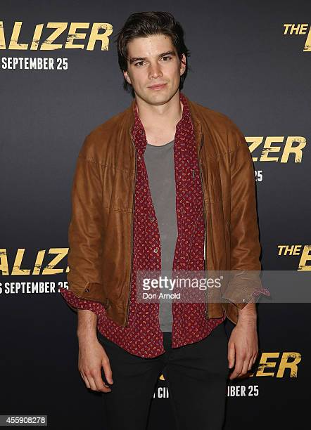 "Jackson Gallagher poses on the red carpet at ""The Equalizer"" Sydney Premiere at Event Cinemas George Street onSeptember 22, 2014 in Sydney, Australia."