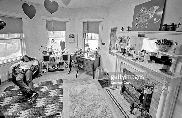 Jackson girl at home in 'old building' campus housing Medford Massachusetts mid 1970s