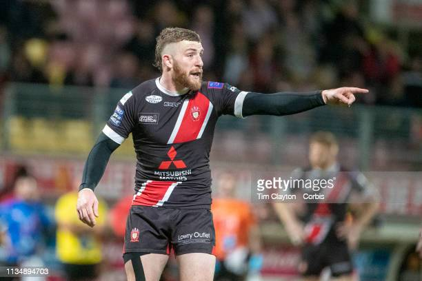 Jackson Hastings of Salford Red Devils during the Catalans Dragons V Salford Red Devils Betfred Super League regular season match at Stade Gilbert...