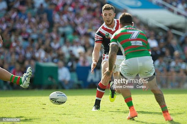 Jackson Hastings of the Roosters in action against the Rabbitohs during the match between the Sydney Roosters and the South Sydney Rabbitohs at the...