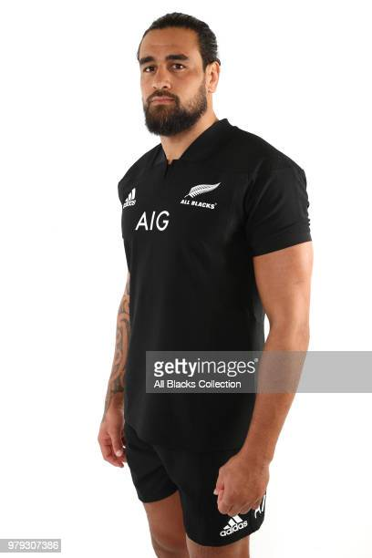 Jackson Hemopo poses during a New Zealand All Blacks headshots session on June 20 2018 in Auckland New Zealand