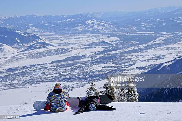 Jackson Hole Wyoming Snowboarders