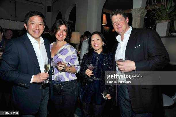 Jackson Hsieh Mary Alice Sherrill Minalie Chen and David Sherrill attend 'BURGUNDY BORDEAUX BLUE JEANS BLUES' A Casual Sunday Supper at DANIEL for...