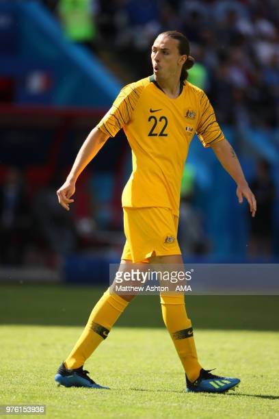 Jackson Irvine of Australia in action during the 2018 FIFA World Cup Russia group C match between France and Australia at Kazan Arena on June 16 2018...