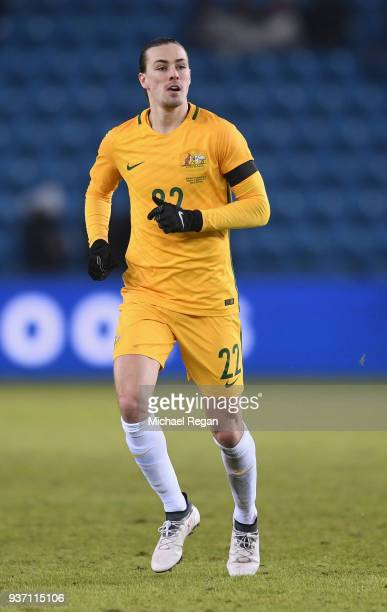 Jackson Irvine of Australia in action during the International Friendly match between Norway and Australia at Ullevaal Stadion on March 23 2018 in...