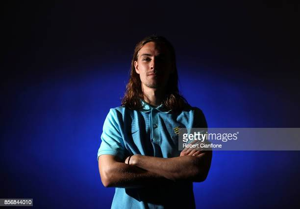 Jackson Irvine of Australia poses during an Australia Socceroos media opportunity on October 3 2017 in Malacca Malaysia