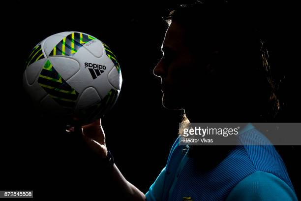 Jackson Irvine of Australia poses during an exclusive portrait session at Hilton Hotel ahead of the leg 1 of FIFA World Cup Qualifier Playoff against...