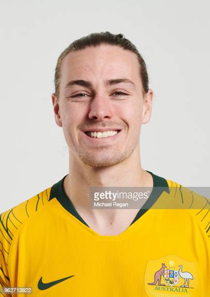 Jackson Irvine of Australia poses during the Australia 'Socceroos' Kit Launch on March 24 2018 in Oslo Norway