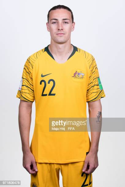 Jackson Irvine of Australia poses for a portrait during the official FIFA World Cup 2018 portrait session at Trudovyne Rezeny on June 11 2018 in...