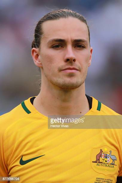 Jackson Irvine of Australia poses prior to a first leg match between Honduras and Australia as part of FIFA World Cup Qualifiers Play Off at Estadio...