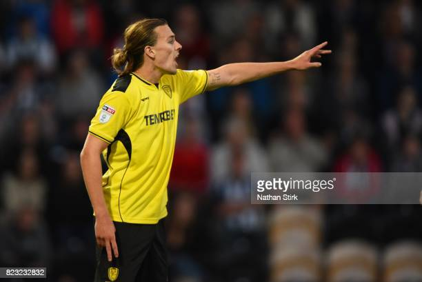 Jackson Irvine of Burton Albion looks on during the pre season friendly match between Burton Albion and West Bromwich Albion at Pirelli Stadium on...