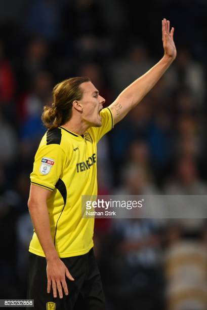 Jackson Irvine of Burtons looks on during the pre season friendly match between Burton Albion and West Bromwich Albion at Pirelli Stadium on July 26...