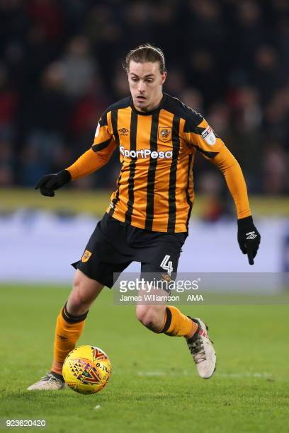Jackson Irvine of Hull City during the Sky Bet Championship match between Hull City and Sheffield United at KCOM Stadium on February 23 2018 in Hull...