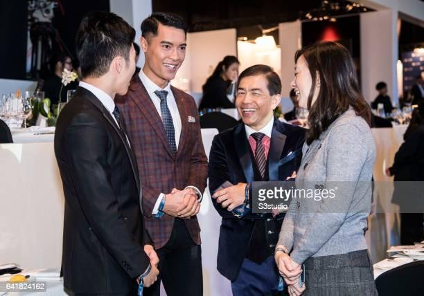 Jackson Lai Mr Hong Kong 2016 and Freeyon Chung Mr Hong Kong 2016 second runnerup arrive at the Longines Masters of Hong Kong 2017 on 12 February...