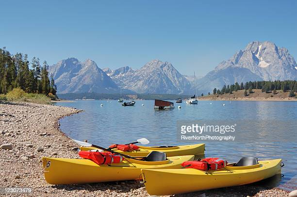jackson lake, wyoming - jackson hole stock pictures, royalty-free photos & images