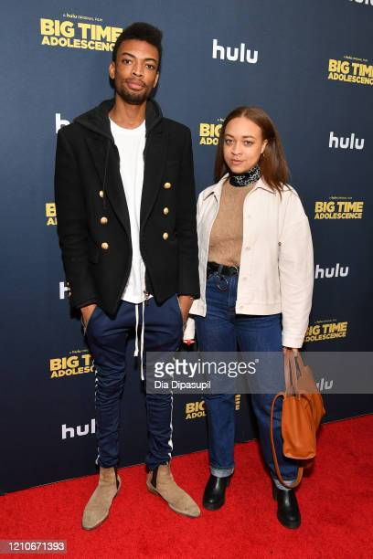 Jackson Lee and Satchel Lee attend the premiere of Big Time Adolescence at Metrograph on March 05 2020 in New York City