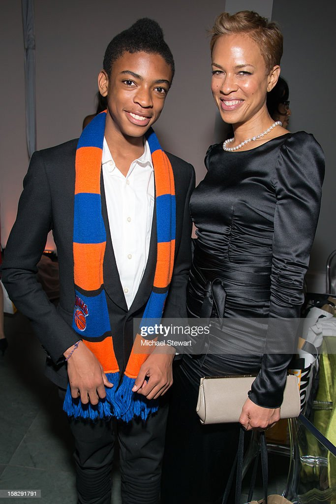 Jackson Lee (L) and Tonya Lewis Lee attend The Museum of Modern Art's Jazz Interlude Gala after party at Museum of Modern Art on December 12, 2012 in New York City.