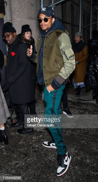 Jackson Lee is seen arriving to Coach 1941 fashion show at the NYSE during New York Fashion Week on February 12 2019 in New York City