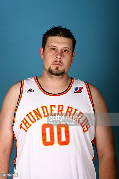 Jackson Marlow of the Albuquerque Thunderbirds poses for a portrait during DLeague media day on November 13 2007 at the Open Court in Lehi Utah NOTE...